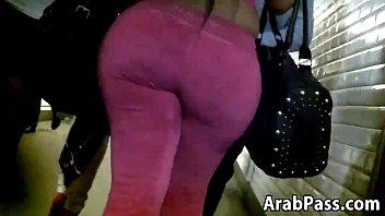 gigantic arab arse ambling around in.