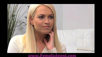 femaleagent earnestly wonderful bashful blond creates steamy casting flick