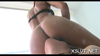 Agreeable brunette suffocates dude with intensive ass smothering