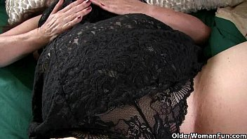 large-boobed granny has to take care of her.