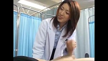 japanese lady medic makes her patient.