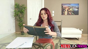 girl-girl honey skyla is reading books when cougar.