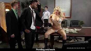 office fuck-fest with buxom gals at.