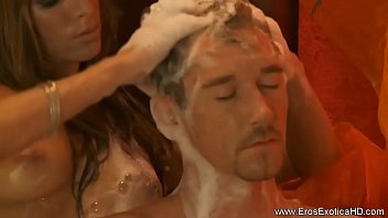Blonde Gives A Handjob Massage