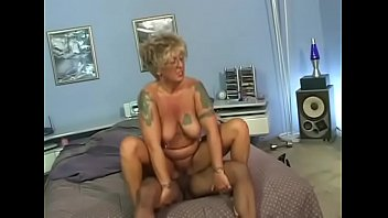 mature gal pounded by her african stallion when.