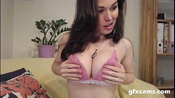 Perfect Tits Brunette Beauty Fingers Herself on Cam