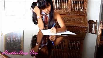 hd heather deep jaw-dropping school doll gets pounded.